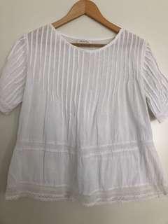 Steele white cotton top size 8