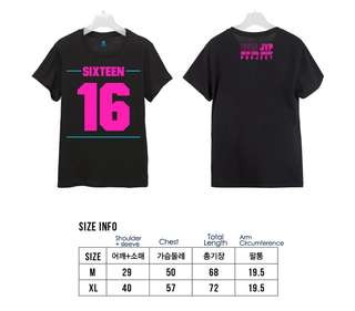 Rare TWICE pre-debut shirt  SIXTEEN OFFICIAL T-SHIRT