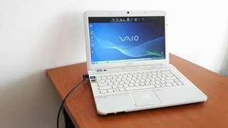 Laptop Notebook Murah Bekas Sony Vaio VPCEG15EG Core i3-2310M VGA Intel HD Putih