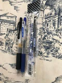 Pilot 0.5 Black & Blue Pens Set