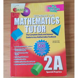Secondary Two Mathematics tutor
