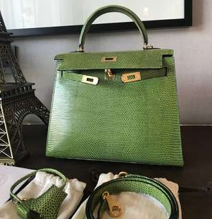 Authentic Hermes Kelly 25 Lizard
