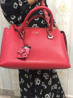 Guess Hand Bag-Red color