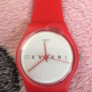Original Red swatch watch