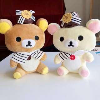 Rilakkuma + Korilakkuma cute soft toys set
