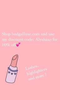 Get 10% off any item when using my code Alyshaxo