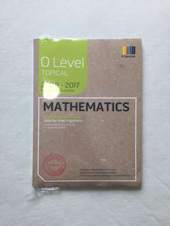 o level math (topical) examination questions