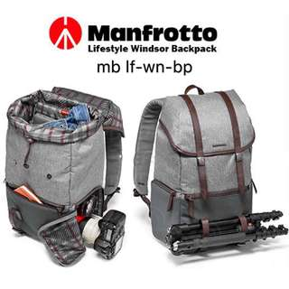 Manfrotto Windsor Camera and Laptop Backpack for DSLR (Gray) (mb lf-wn-bp)