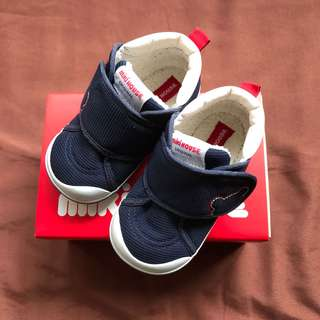 mikihouse miki house 2nd stage baby shoes size 14 navy blue