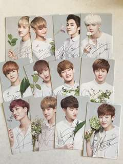 Nature Republic ver 2 EXO OT12 official photocard set