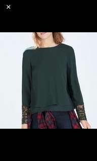 (REDUCED) Inspired Zara Green Blouse