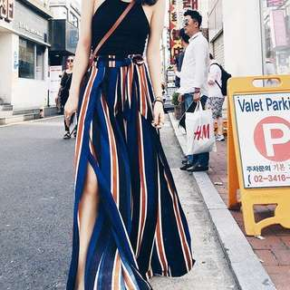 ⚡️ Slit Stripes Pants