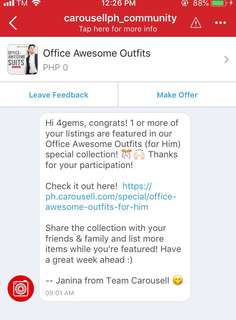 Featured Seller 👏🏻 Thanks Carousell💚
