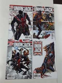Union Jack London Falling (2007 Marvel) Comics Set