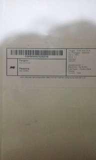 tanda bukti pengiriman via jne