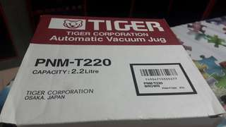 tiger vacuum jug 2.2 litres