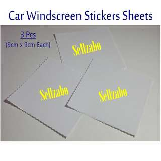 3 Pcs Cars Windscreen Stickers Sheets Sellzabo Vehicles (Misc)