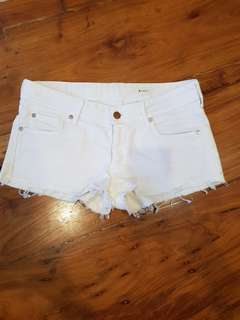 H&M denim light pink shorts (US 8)