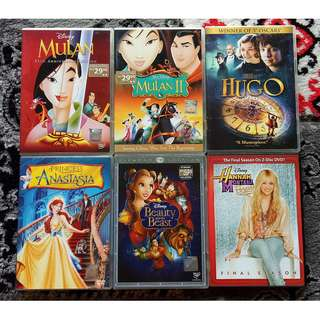 Assorted DVD Movies: Disney / Animation
