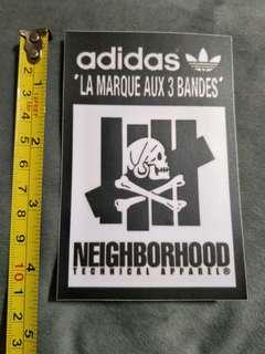 Neighborhood/undefeated sticker