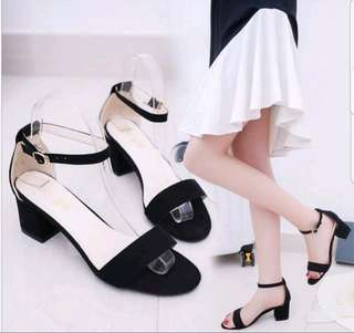 FREE POS Black Thick High Heels