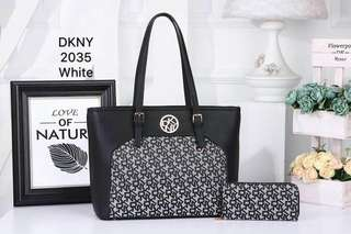 DKNY Tote Bag White