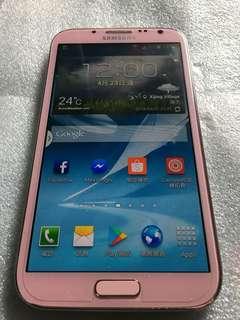 Samsung Galaxy Note 2 櫻花粉 便宜售(可議)~