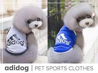 Adidog Pet Sports Clothes