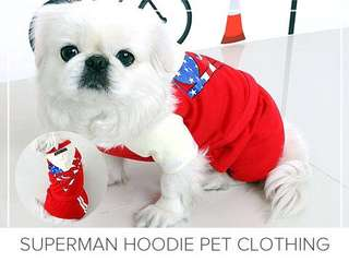 Superman Hoodie Pet Clothing