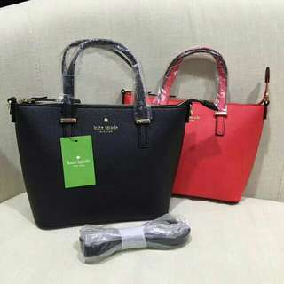 *FREE DELIVERY to WM only / Pre order 18-21 days* Ladies 28*21*18cm Kate Spade inspired handbag each (buyer review: althought it's inspired but looked like original) as shown design/color blk, red. Free delivery is applied for this item.
