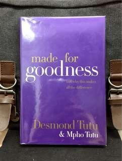 # Highly Recommended《Preloved Hardcover + It Is Up To Us To Live Up To Our Destiny & Find A Path To Hope》DESMOND TUTU & MPHO TUTU - MADE FOR GOODNESS : And Why This Makes All The Difference