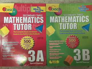Sec 3 Math Assessment Books (Casco)