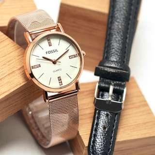 jam tangan fosil pasir 952
