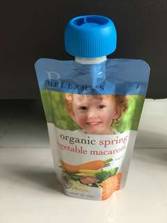Bellamy's organic spring vegetables macaroni food pouch