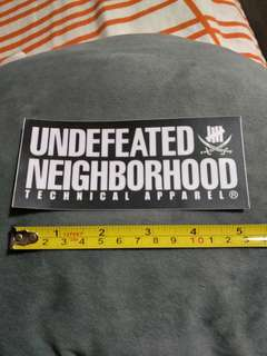 Undefeated/neighborhood stickers