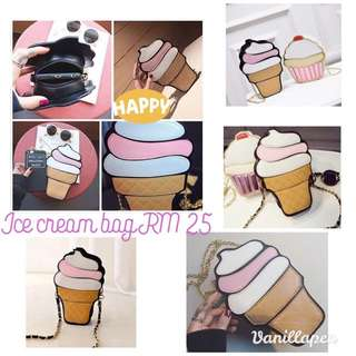 Ice Cream Shoulder Bag Raya Cute