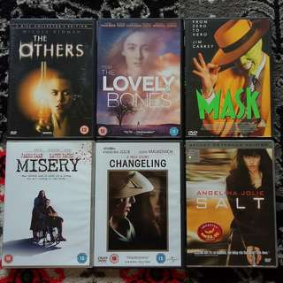 Assorted DVD Movies: Drama / Horror / Thriller
