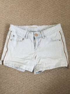 Striped denim shorts size S *REDUCED*