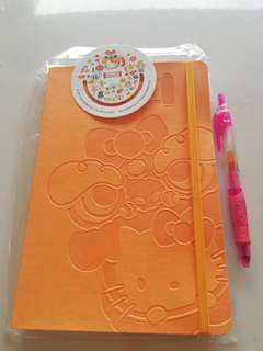 Hello Kitty note book with bookmark rm6 NEW