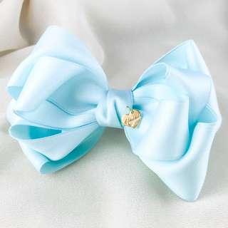 Handmade blue bow hair barrette clip, blue school bows, korean hair clip, bridesmaid hair bow blue, french clip bow, women hair barrette bow, kawaii