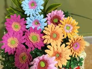 Daisy clay flowers