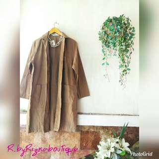 {New} Amirthaya Brown Long Parka Blazer