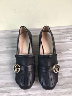 Gucci Pearl Buckle 5 cm Heel Shoes