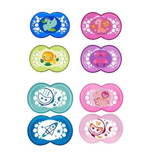 MAM Pacifiers 6-18m, 2pcs, with Sterilising Storage Case