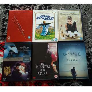 Assorted DVD Movies: Drama / Musical / Thriller / Classic