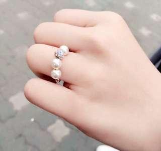(現貨)正韓 串珠戒指/彈性戒指
