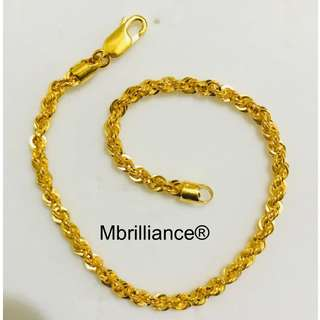 916 gold rope bracelet by Mbrilliance