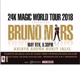 Bruno mars Kuala Lumpur 24k Magic World Tour