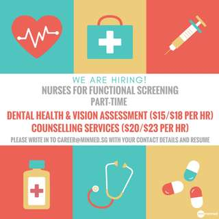 Nurses for Functional Screening (Part-time)