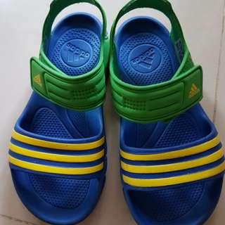 正品Adidas愛迪達 兒童 極輕量 防滑涼拖鞋